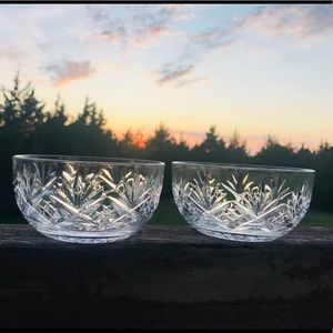 Other - Beautiful Starburst Crystal Cut Bowls
